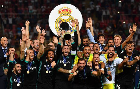 Hasil pertandingan UEFA Super Cup antara Real Madrid vs Manchester United.